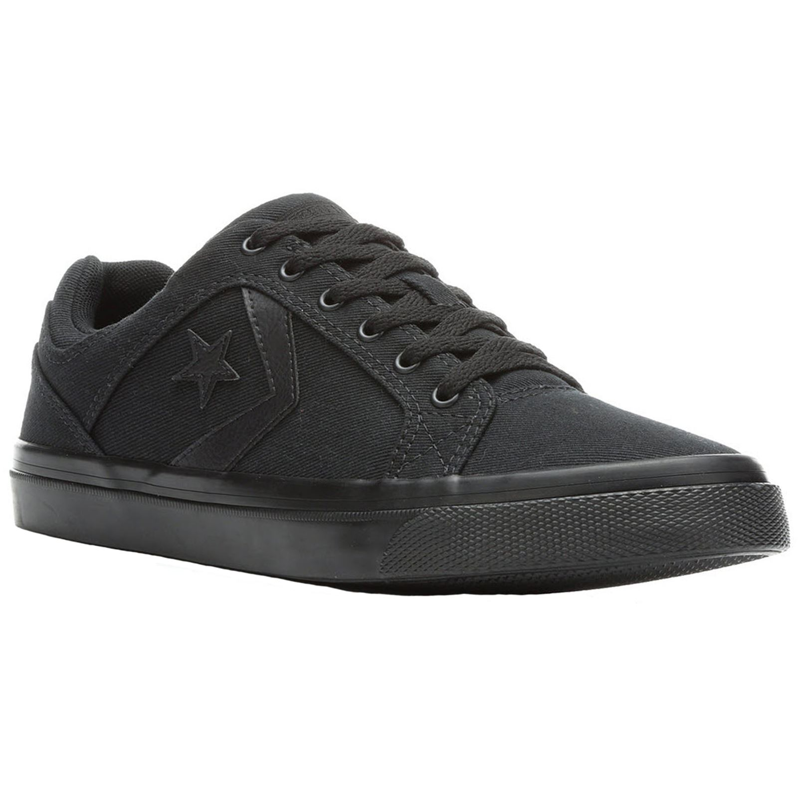 4b0b5396761518 Converse El Distrito Ox Black Mens Canvas Low-top Lace-Up Sneakers Trainers