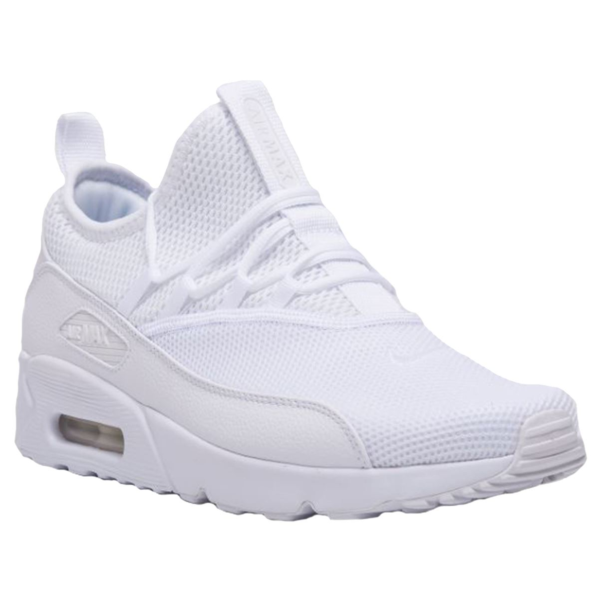 Details about Nike Air Max 90 EZ White Mens Mesh Lace up Low top Sneakers Trainers
