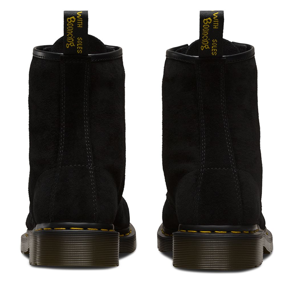 Dr.Martens 1460 8 8 8 Eyelet Soft Buck Black Wo  Boots | Exquis  346787