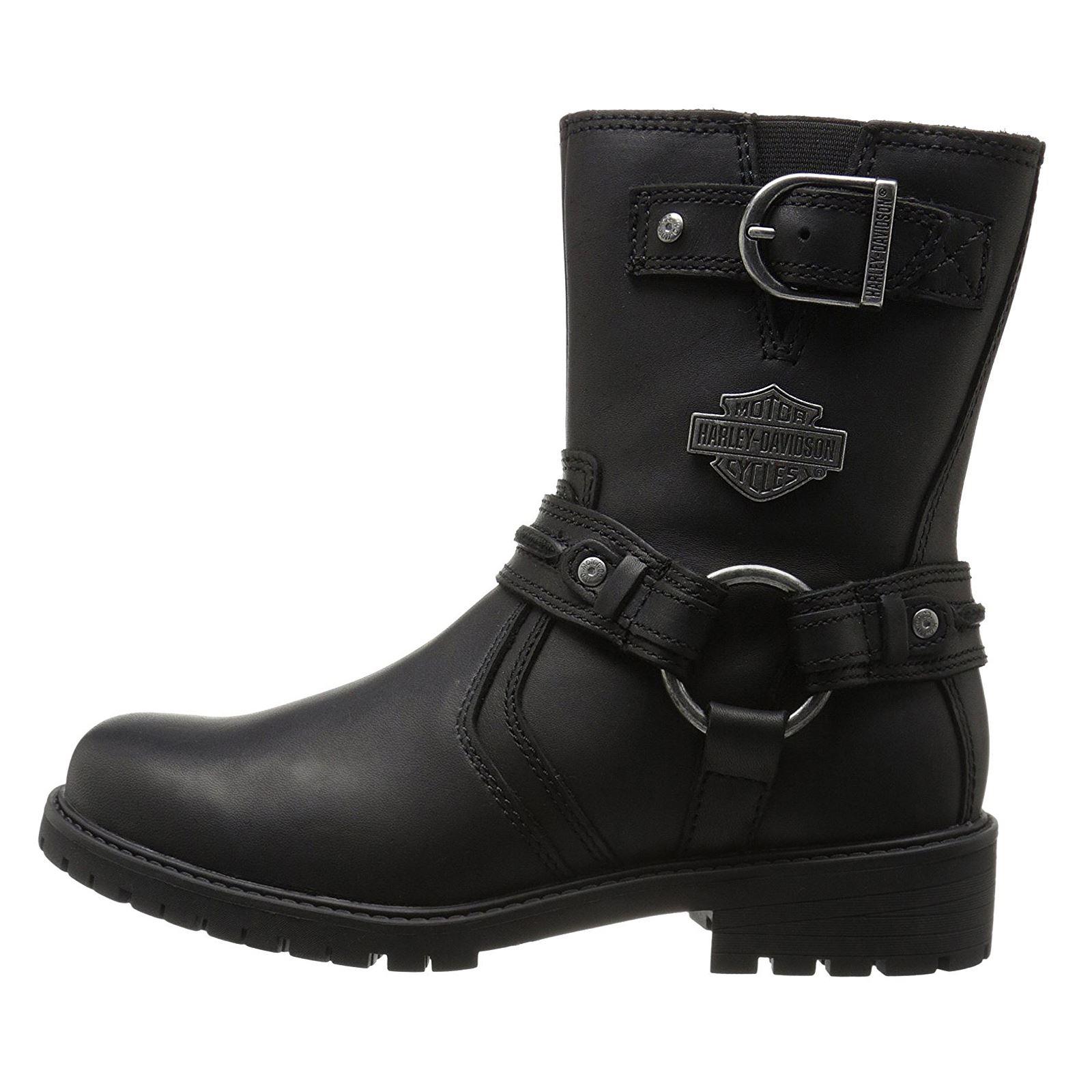 harley davidson abner black motorcycle mens boots ebay