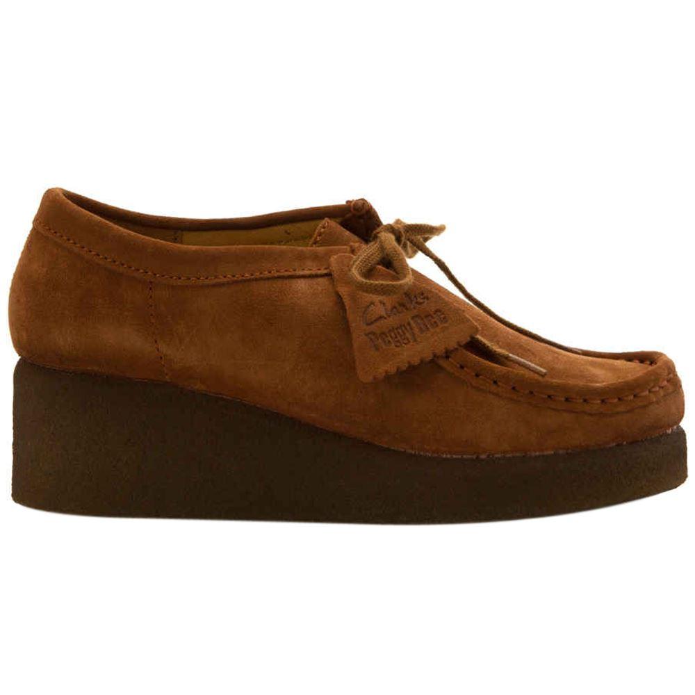 8b2735121 Clarks Originals Peggy Bee Platform Moccasin Cola Womens Shoes