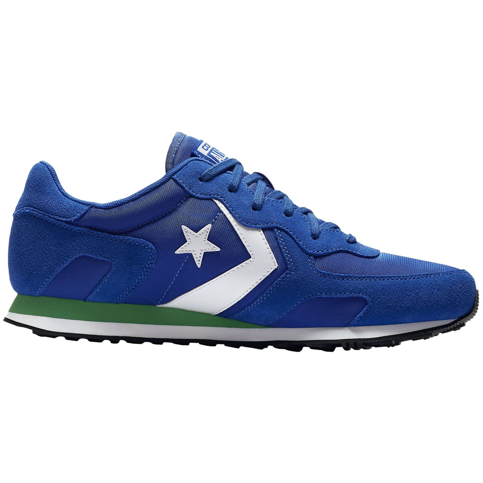 1544f1aa70b Converse Thunderbolt Ox Hyper Royal Green Womens Suede Mesh Low-top Trainers