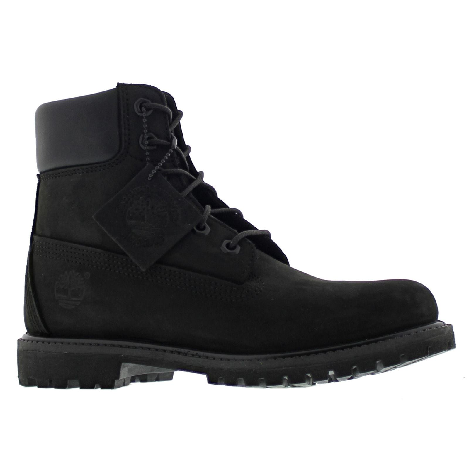 timberland 6 inch premium black womens boots