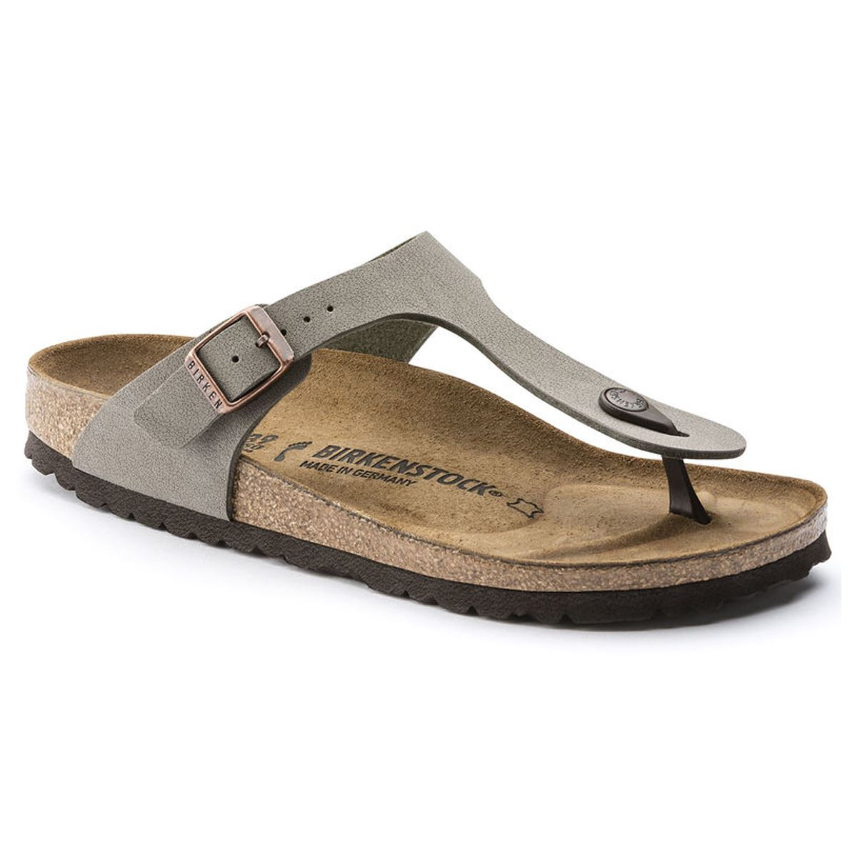 521808ac089 Birkenstock Gizeh Toe Post Womens Summer Sandals Thong Style Stone ...