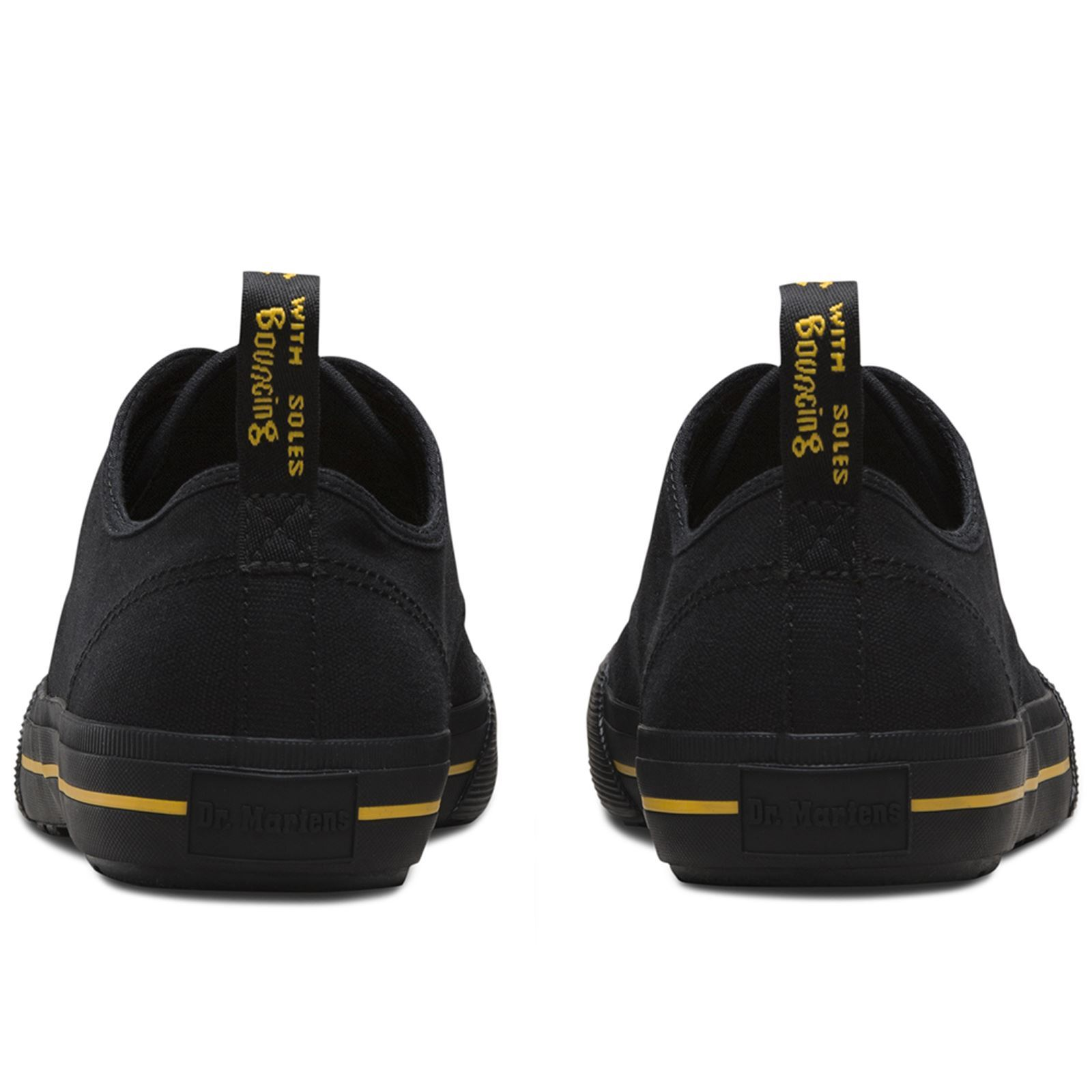 Dr.Martens Pressler 4-Eyelet Casual Black Unisex Canvas Casual 4-Eyelet Low-top Trainers ceca18