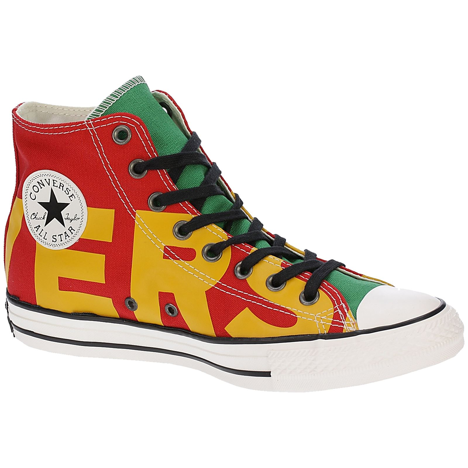 619997acd69 Converse Chuck Taylor All Star Hi Enamel Red Yellow Men Canvas High-top  Trainers