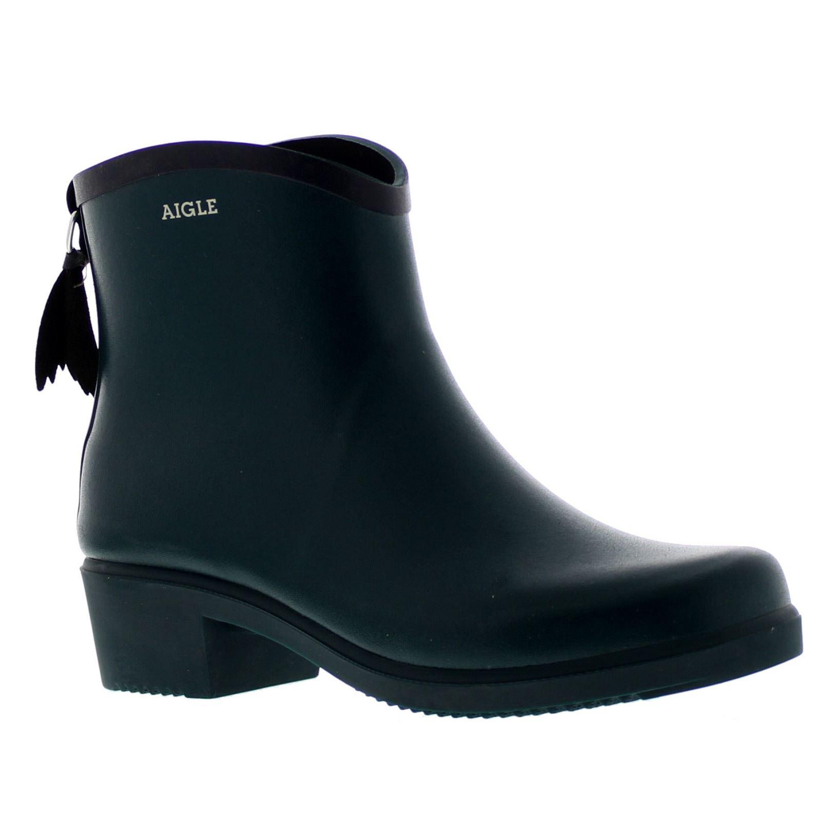e11fac0cae8ec Aigle Miss Juliette Bottillon Pinede Marine Womens Rubber Wellies Ankle  Boots