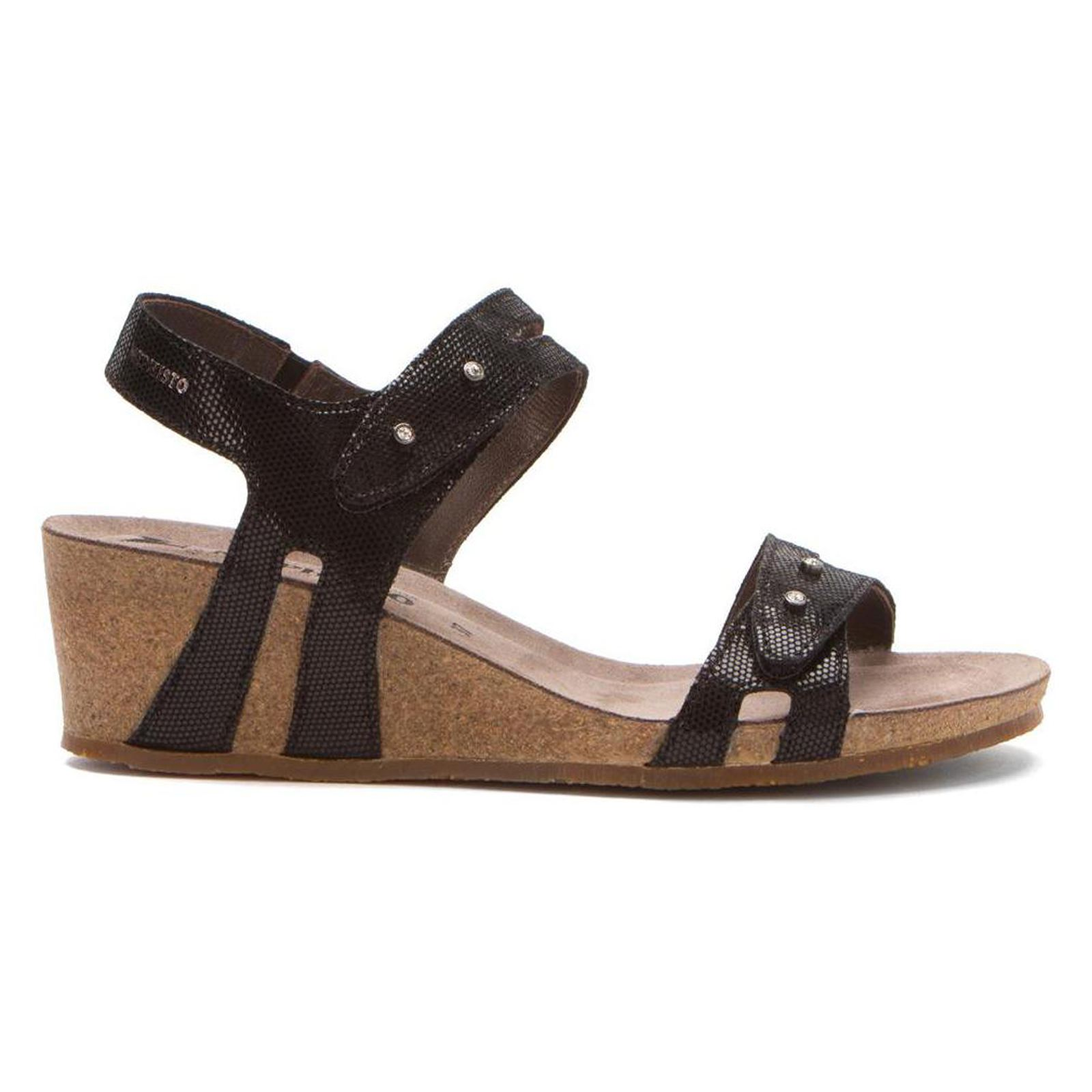 Mephisto Minoa Black Womens Sandals