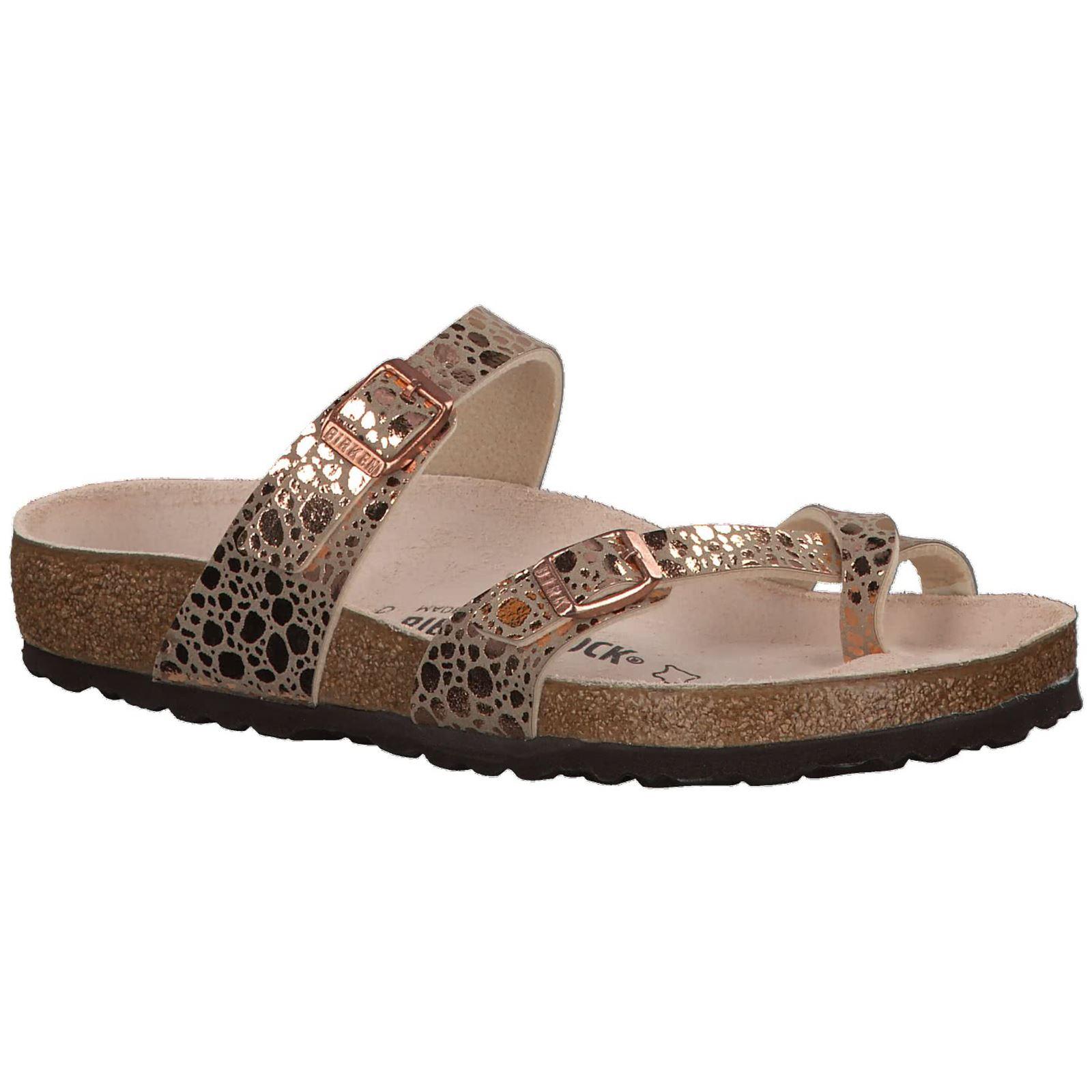 e502329297d Birkenstock Mayari Metallic Stones Copper Womens Birko-Flor Open-Back  Sandals
