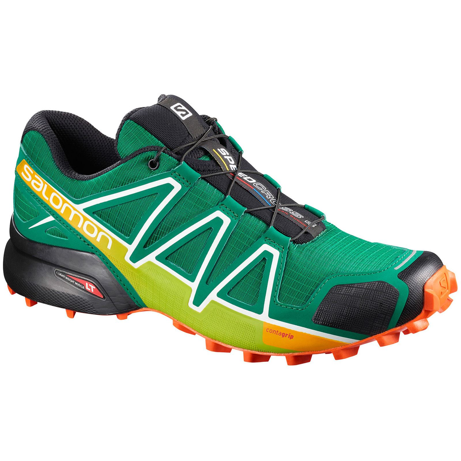 Salomon Speedcross 4 Ultramarine Green Black Men Mesh Low Top Trail Hiking Shoes