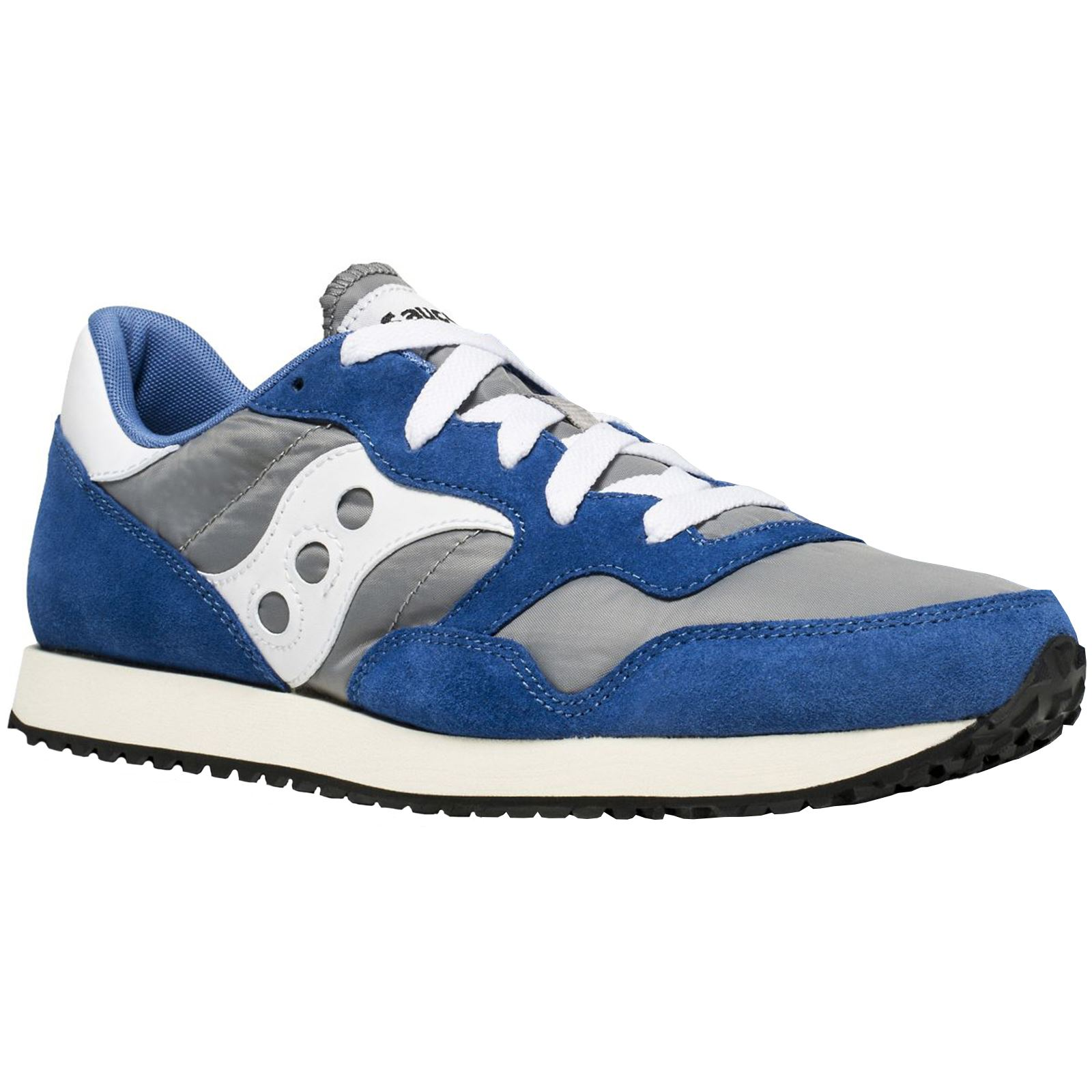 Saucony DXN Vintage S7036915 Grey Blue Mens LaceUp Lowtop Sneakers Trainers