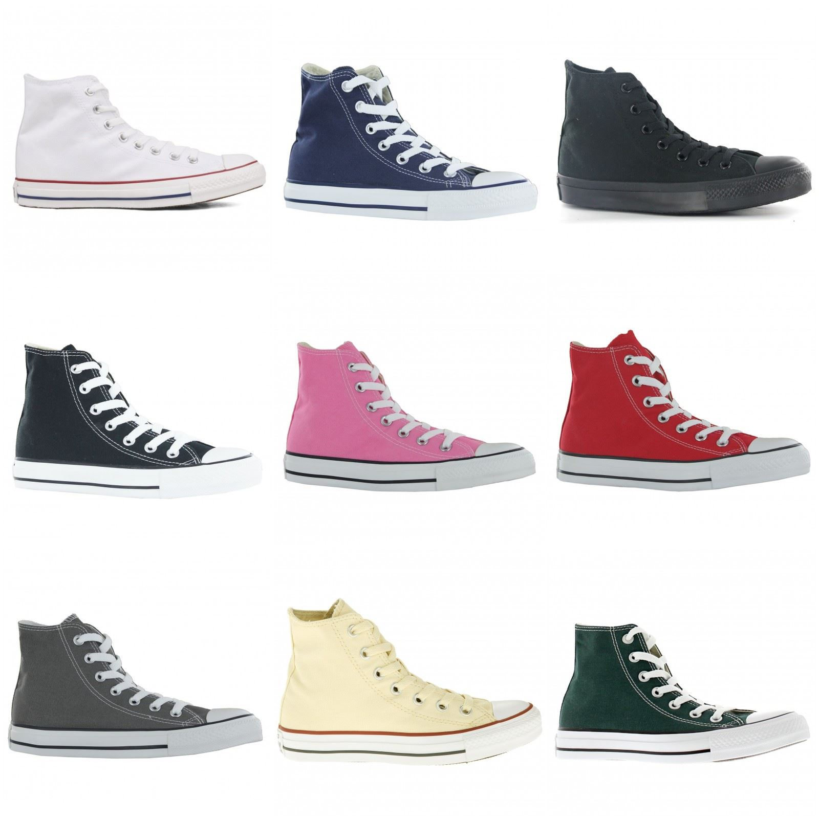 7fc40b04642 Converse Chuck Taylor All Star Hi Canvas Mens Womens Ladies Unisex Trainers