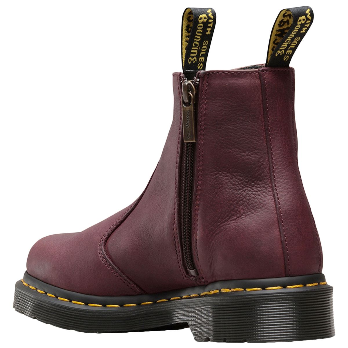 Dr.Martens 2976 W Zips Leather Casual Ankle Ankle Ankle Biker Womens Boots 1d3a56