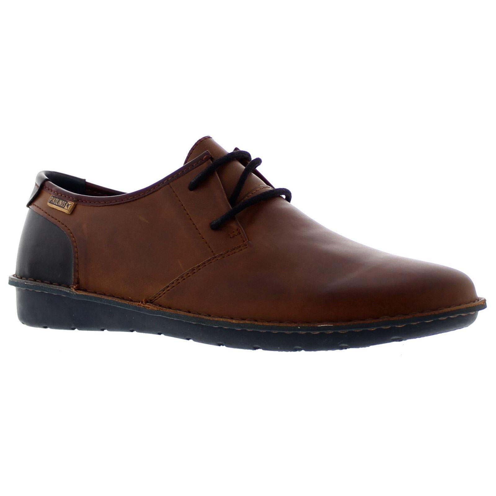 Detalles de Pikolinos Santiago M7B 4023C3 Universidad Para Hombre De Cuero Con Cordones Zapatos Derby de bajo perfil ver título original