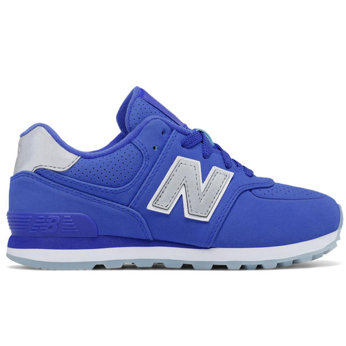 1d2ac594fa864 New Balance 574 Luxe Rep Blue Grey Boys and Girls trainers kids | eBay