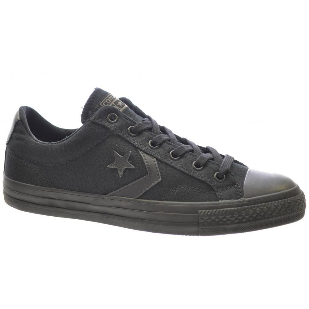Converse Star Plyr Ox Black Black Womens - Mens Trainers - 144144C