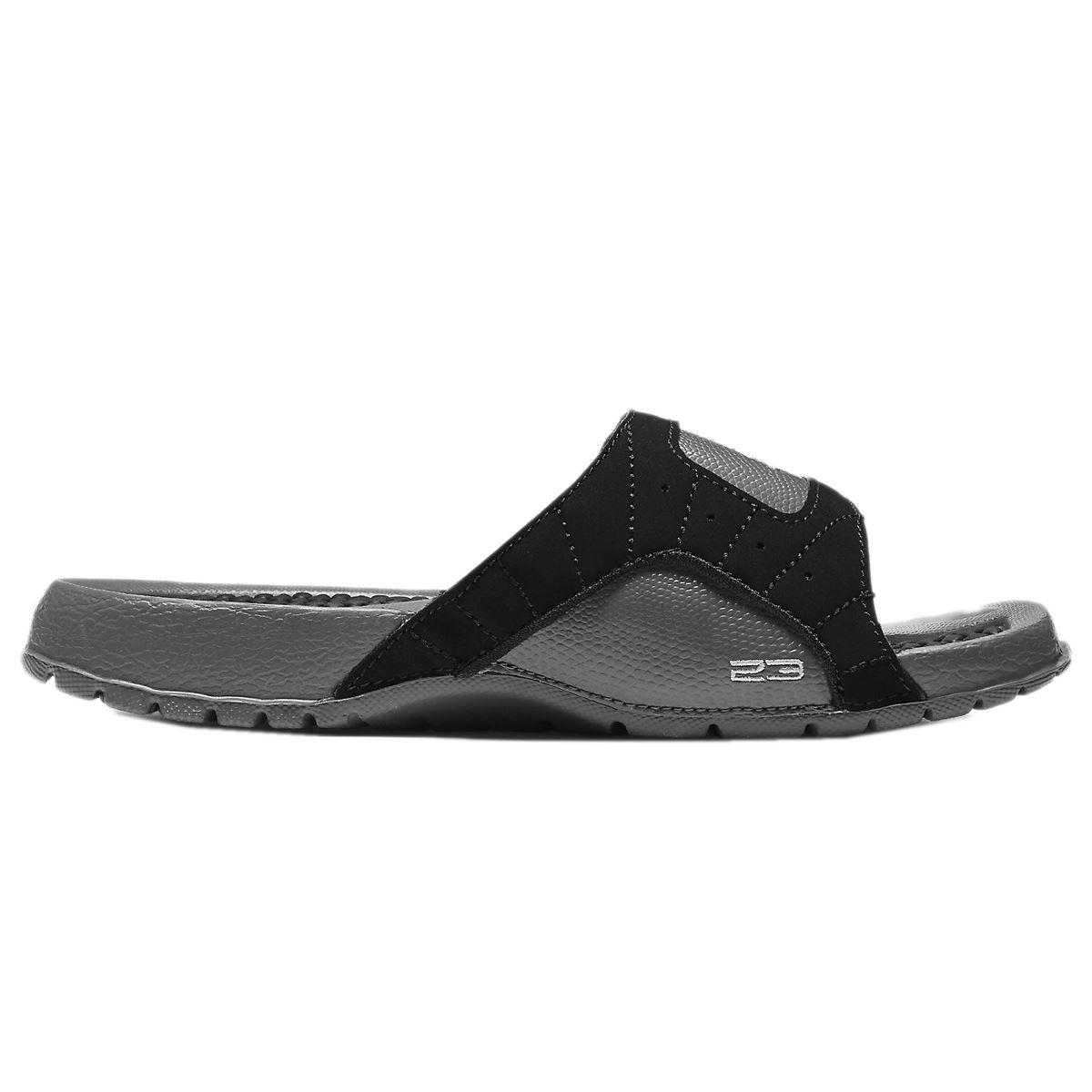 Black jordan sandals - Nike Jordan Hydro Xii Retro Black Grey Youth Sandals