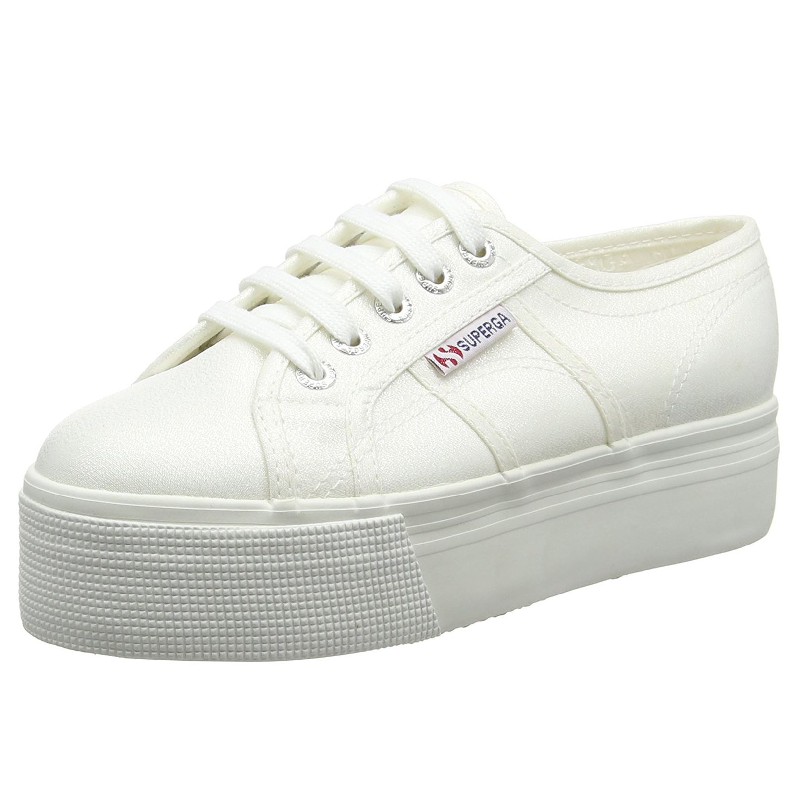 Superga 2790 Lamew White Womens Flatform Trainers