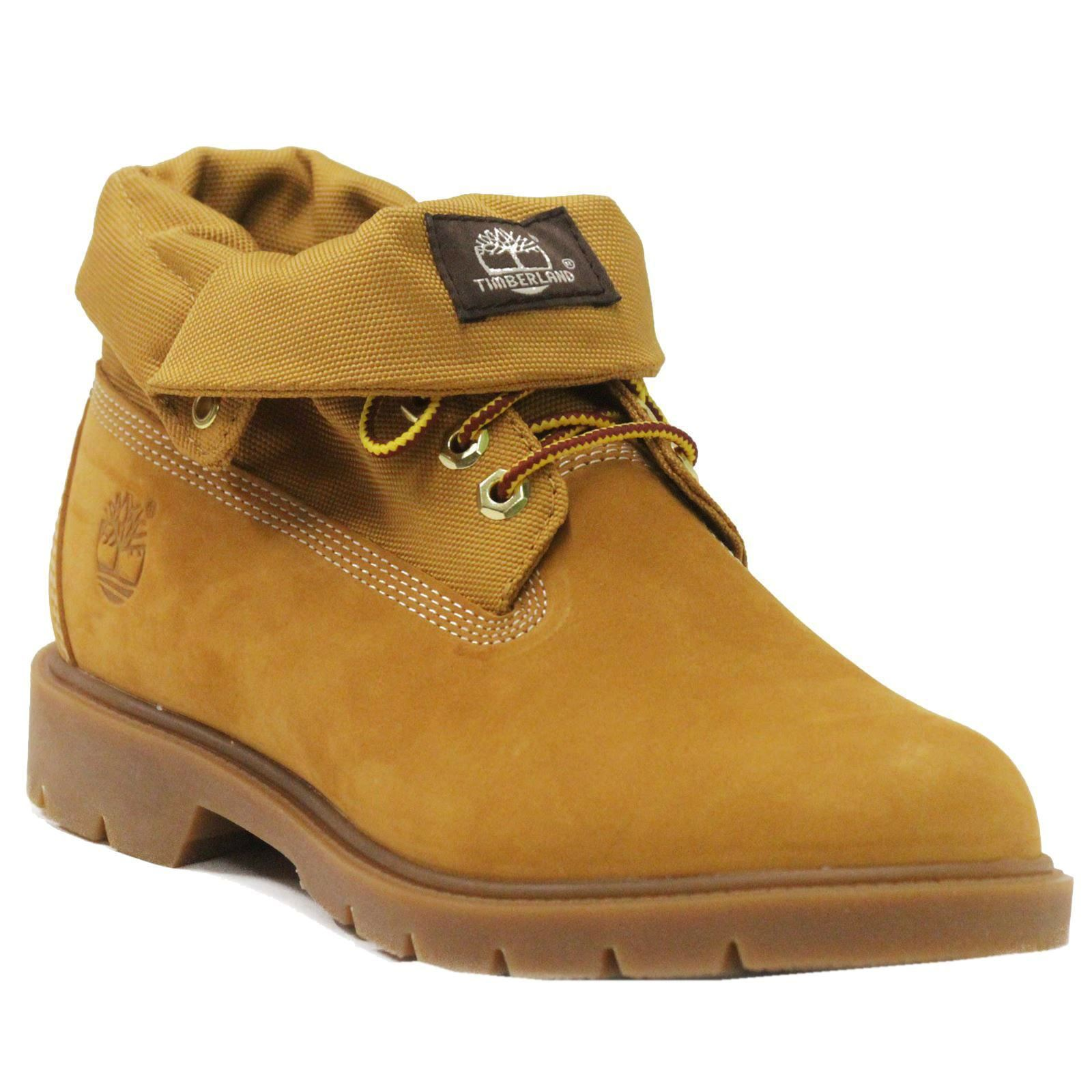 timberland basic roll top wheat mens boots ebay