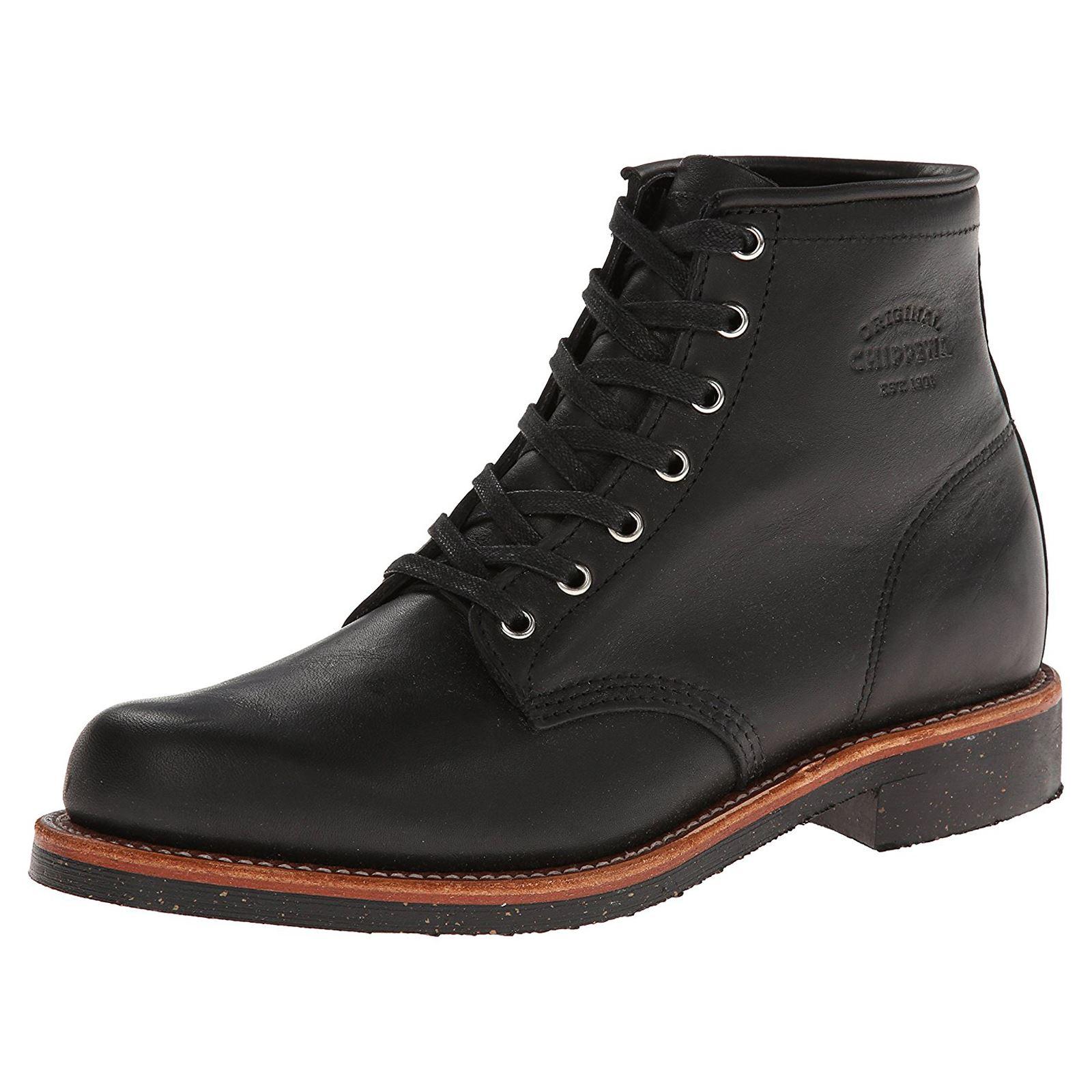 Chippewa 1901m24 Black Men Plain Toe Odessa Leather
