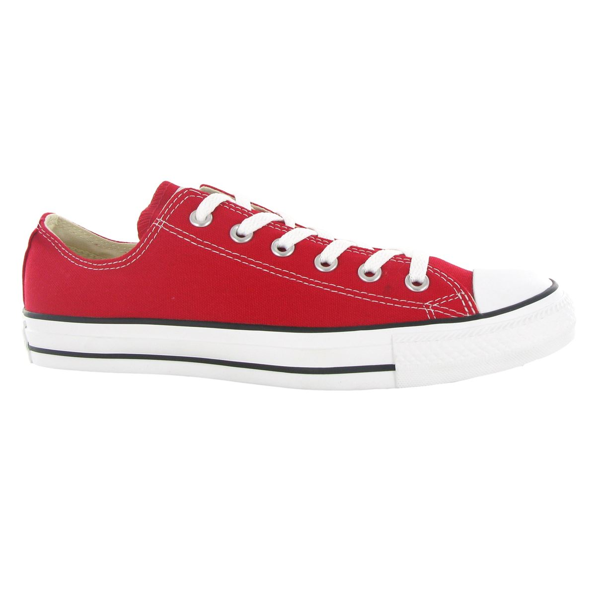 Converse Chuck Taylor All Star Ox Red Canvas Womens Trainers