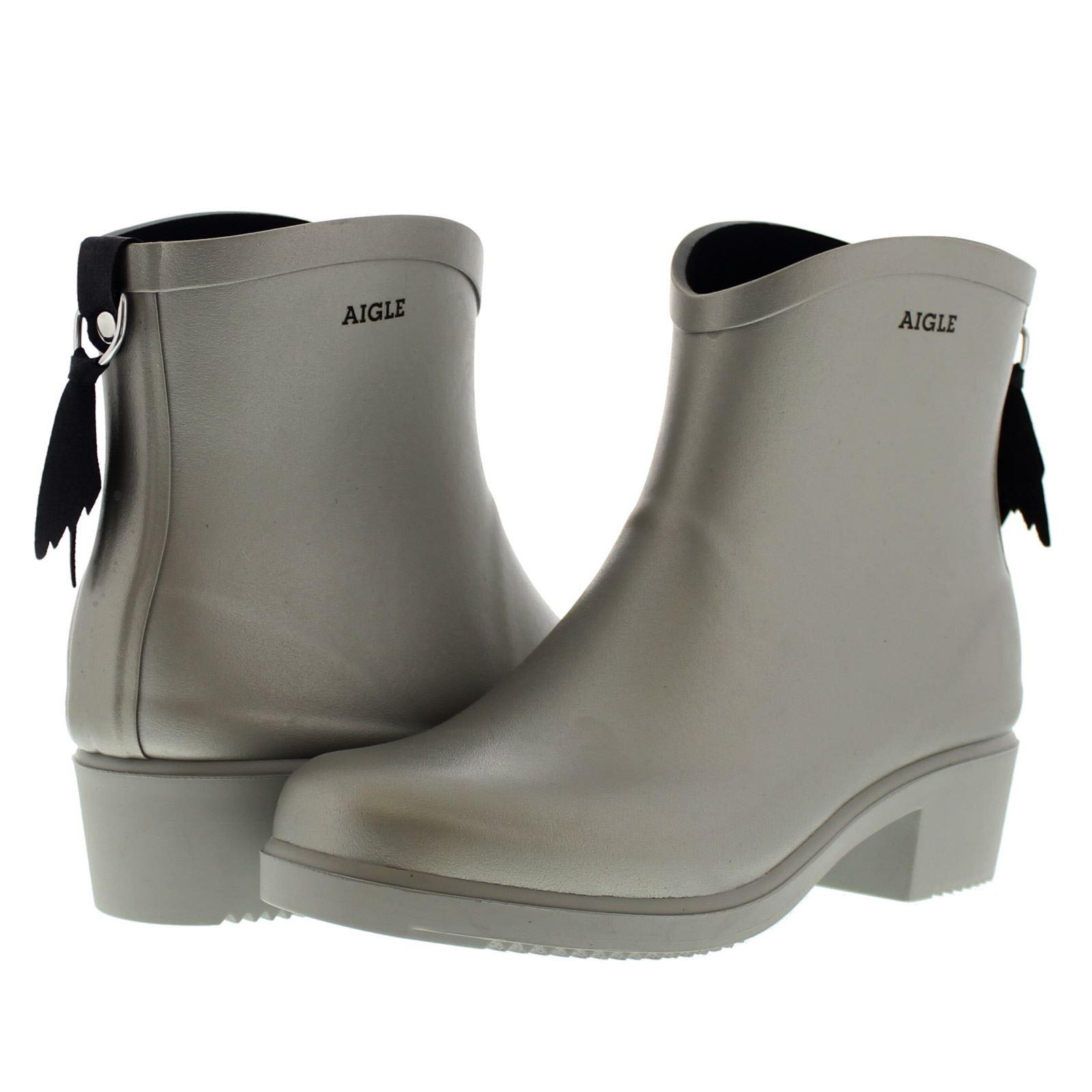aigle miss juliette bottillon silver womens boots ebay. Black Bedroom Furniture Sets. Home Design Ideas