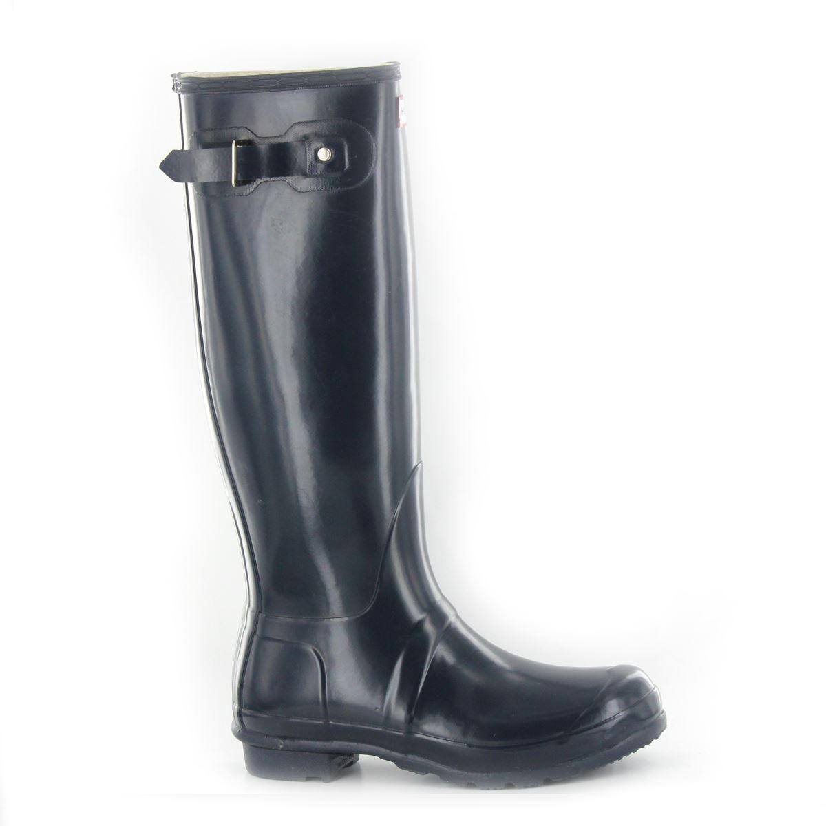 Genieße den reduzierten Preis bestbewertet Rabattgutschein Details about Hunter Original Gloss Tall Navy Damen Wellington Stiefel -  W23616NAVY