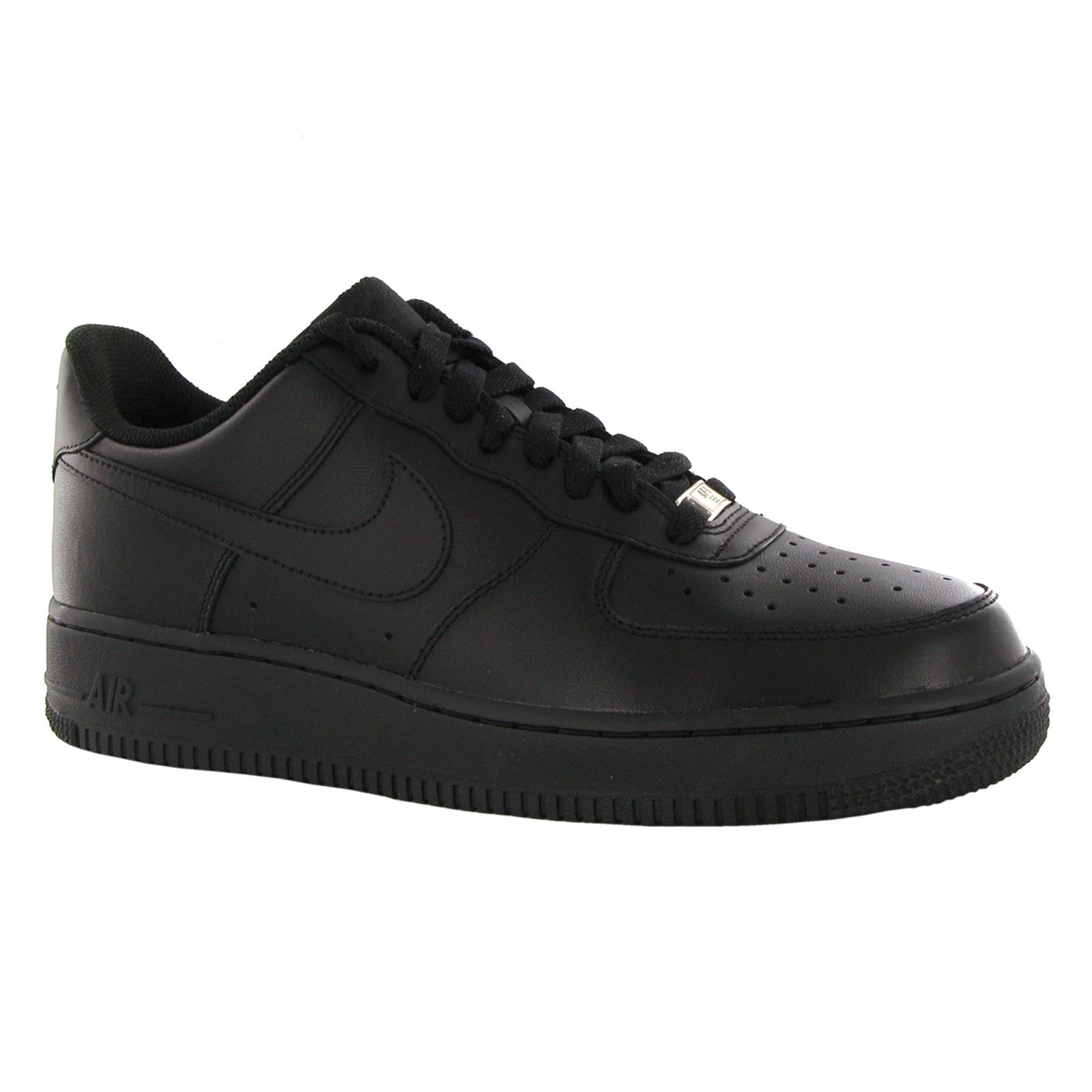 a7520e058fc6e7 Nike Air Force 1 GS Shoes Black Sneaker 314192-009 Unisex Low Dunk ...