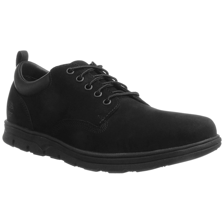 c8c772449ea6 Timberland Bradstreet 5-Eye Oxford Black Mens Nubuck Lace-up Shoes ...