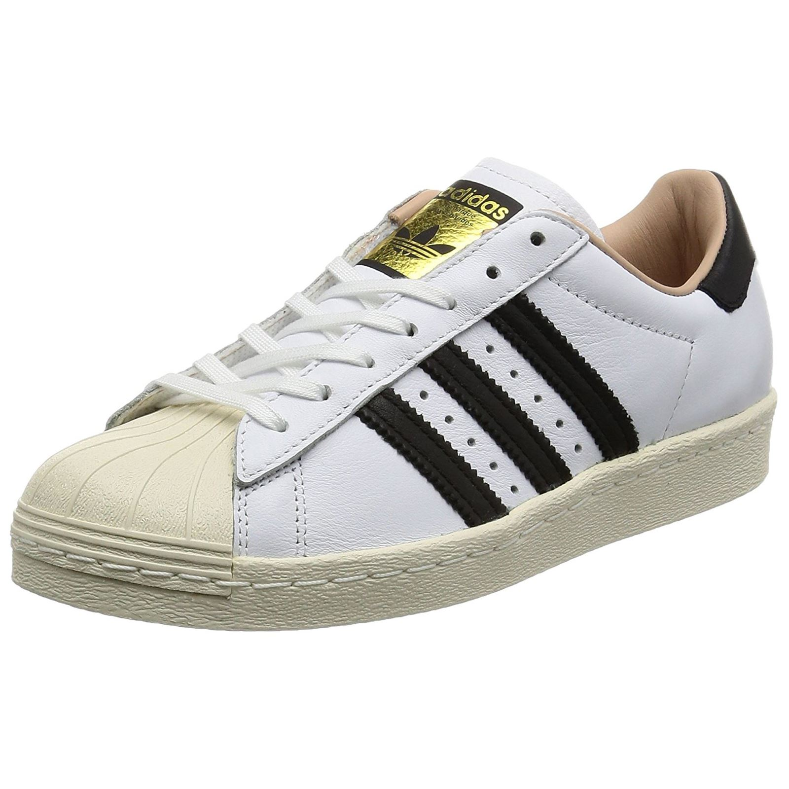 Adidas Superstar 80s White Womens Lace Up Trainers Leather  f2ad12da4f