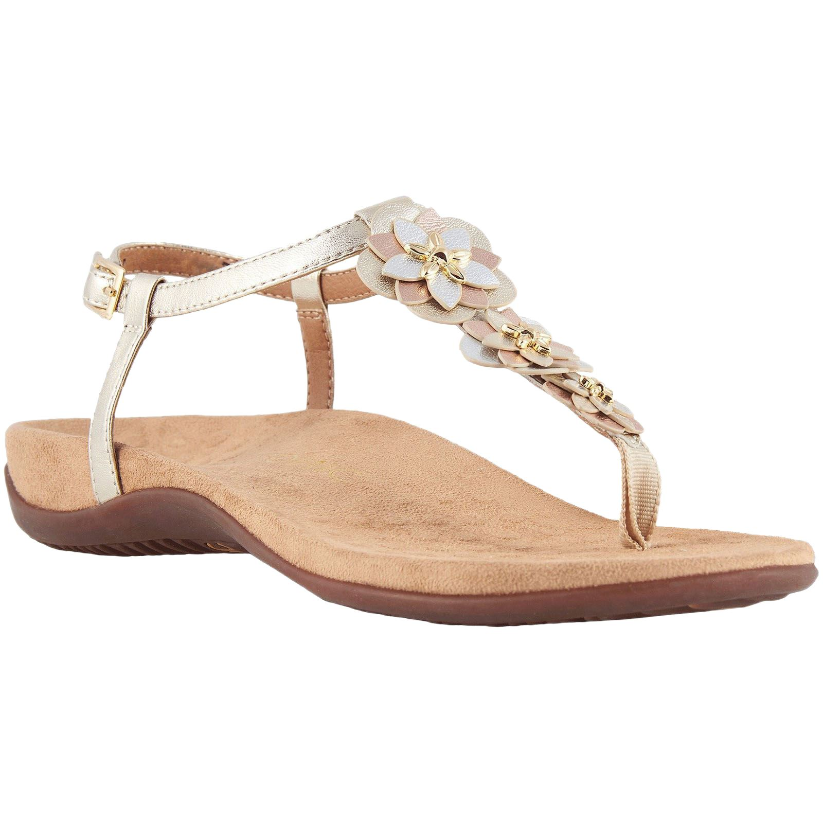 550b22b9a9d2 Details about Vionic Paulie Champagne Womens Leather Slingback Ankle Strap  Sandals