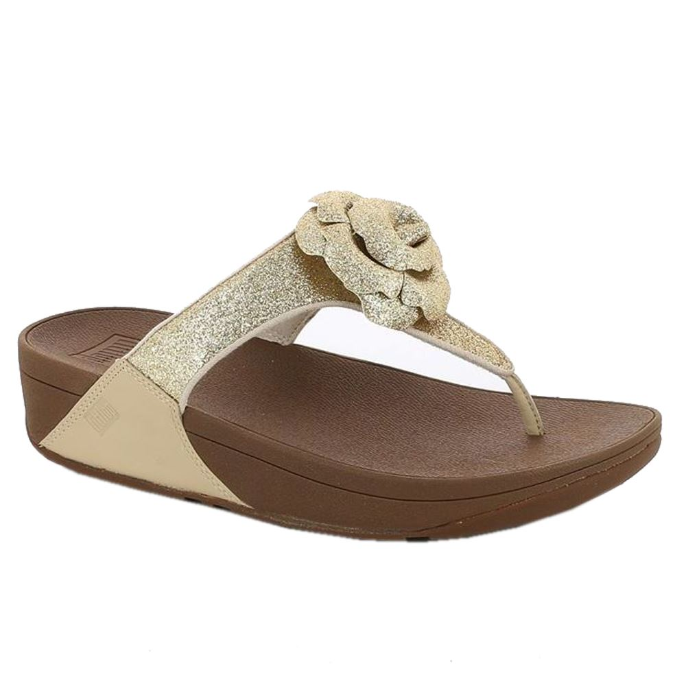 Womens Gold Or Silver Mule Wedge Shoes