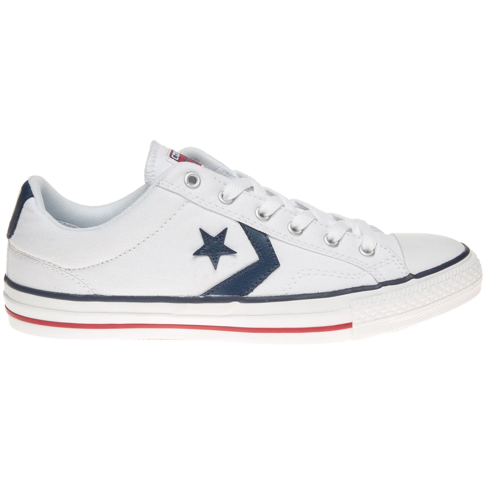 21dc585b6e341b Converse Star Player Ox White Navy Mens Trainers
