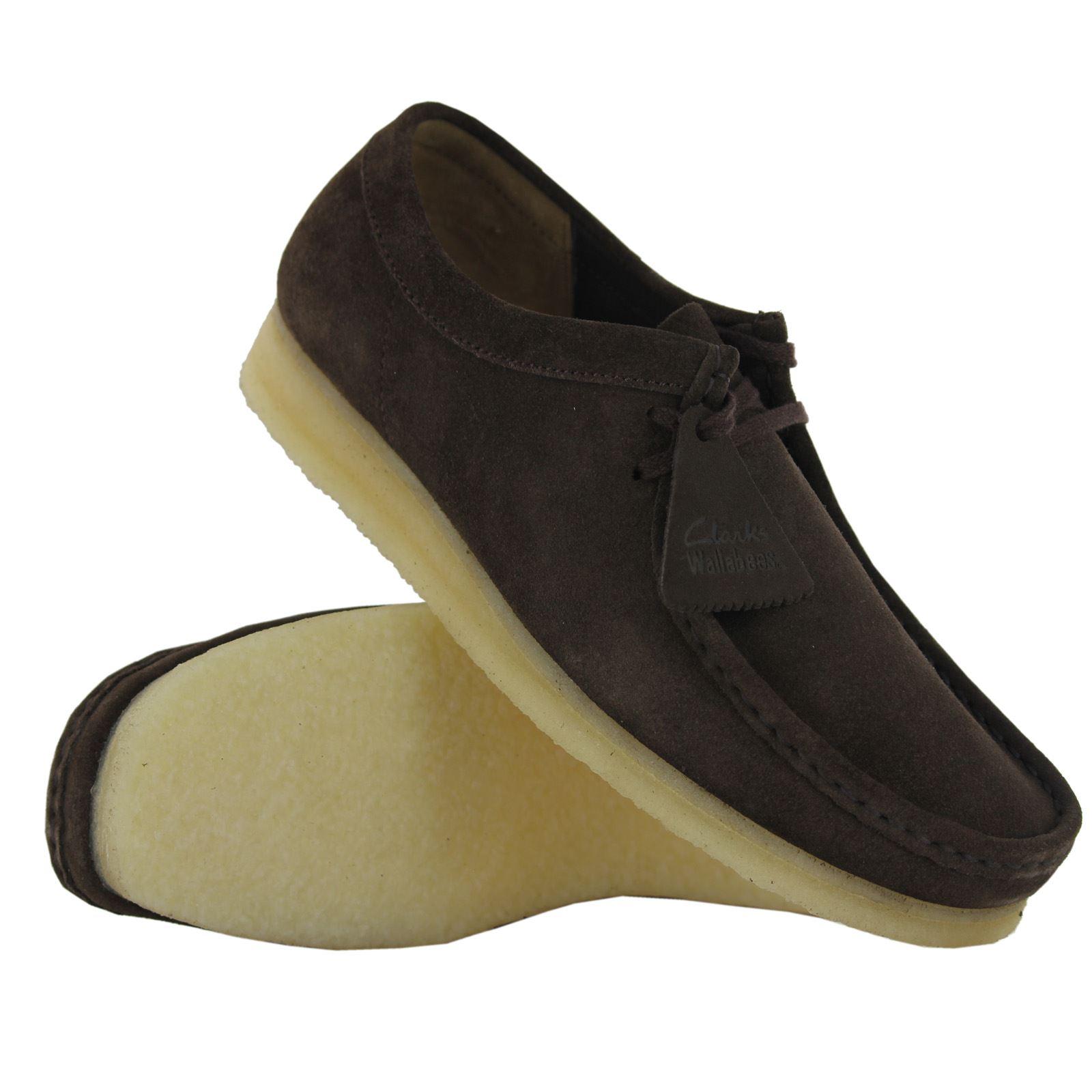 Clarks Ver Casuales Gamuza Para Título De Zapatos Original Detalles Wallabee Clásico Hombre Encaje Con fb67gYyv