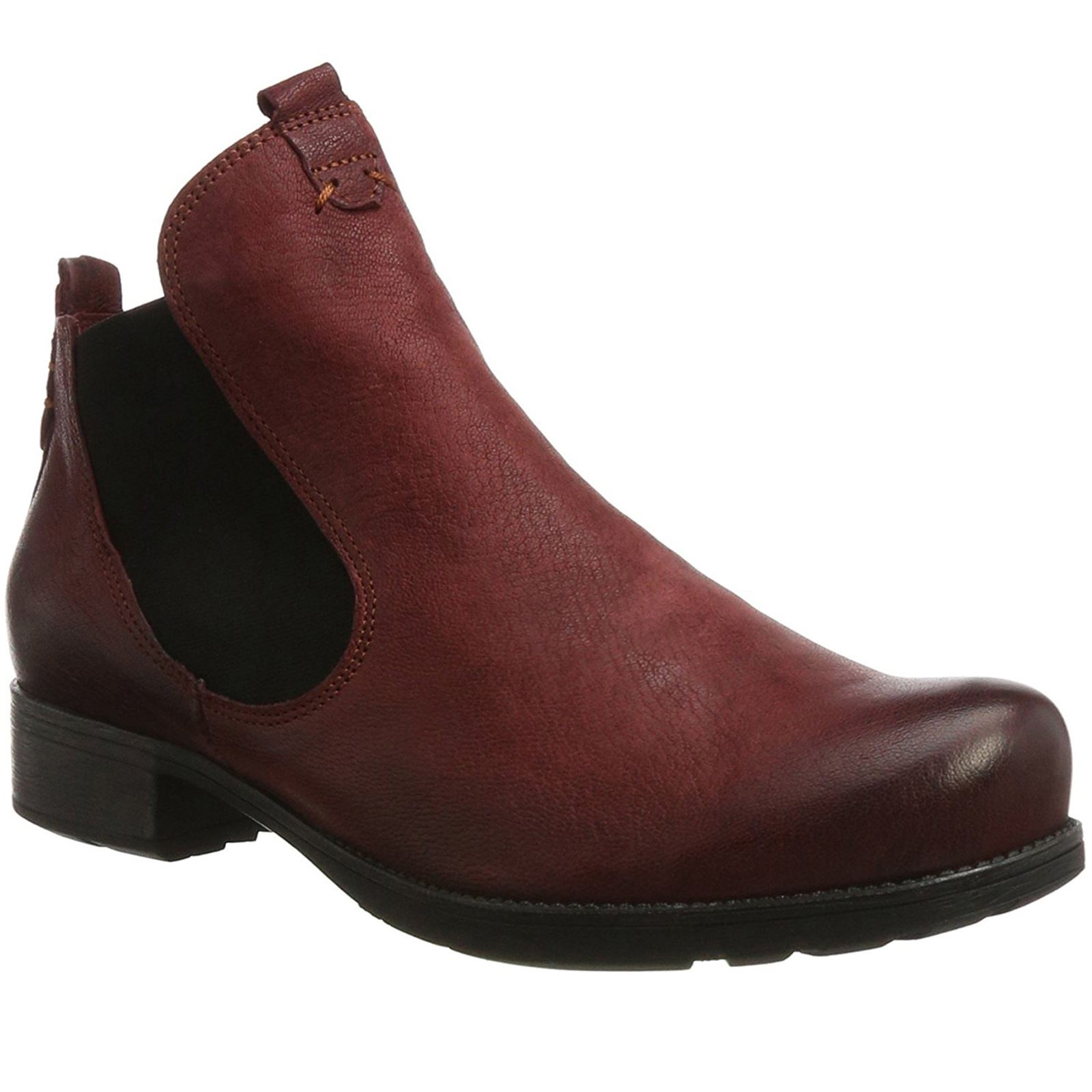 6fd6bf514a Think Denk! Vino Womens Leather Chelsea Twin Elastic Ankle Boots
