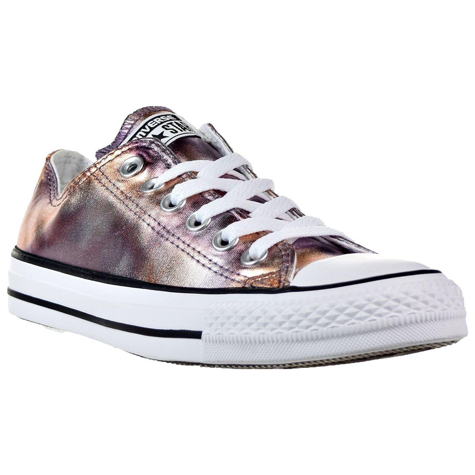 d6aff654b10c0d Converse Chuck Taylor All Star Ox Dusk Pink White Women Canvas Metallic  Trainers