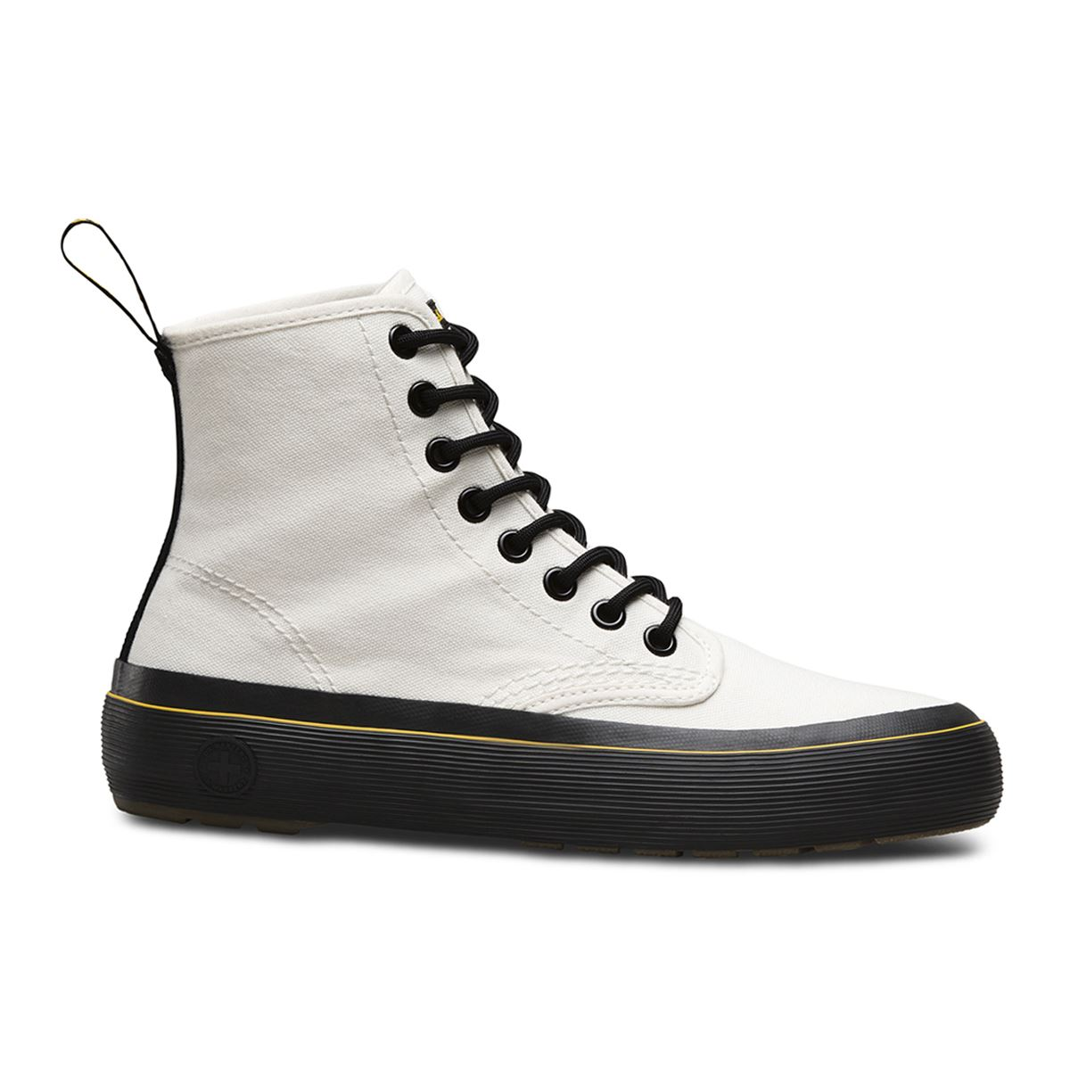 Dr.Martens Monet 8 Eyelet Canvas White Womens Boots