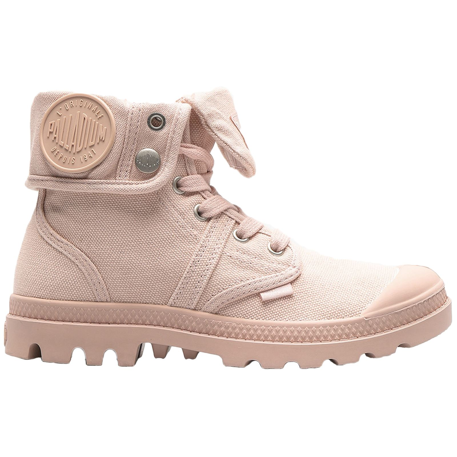 Details about Palladium Pallabrouse Baggy Peach Whip Womens Canvas Fold Down Ankle Boots