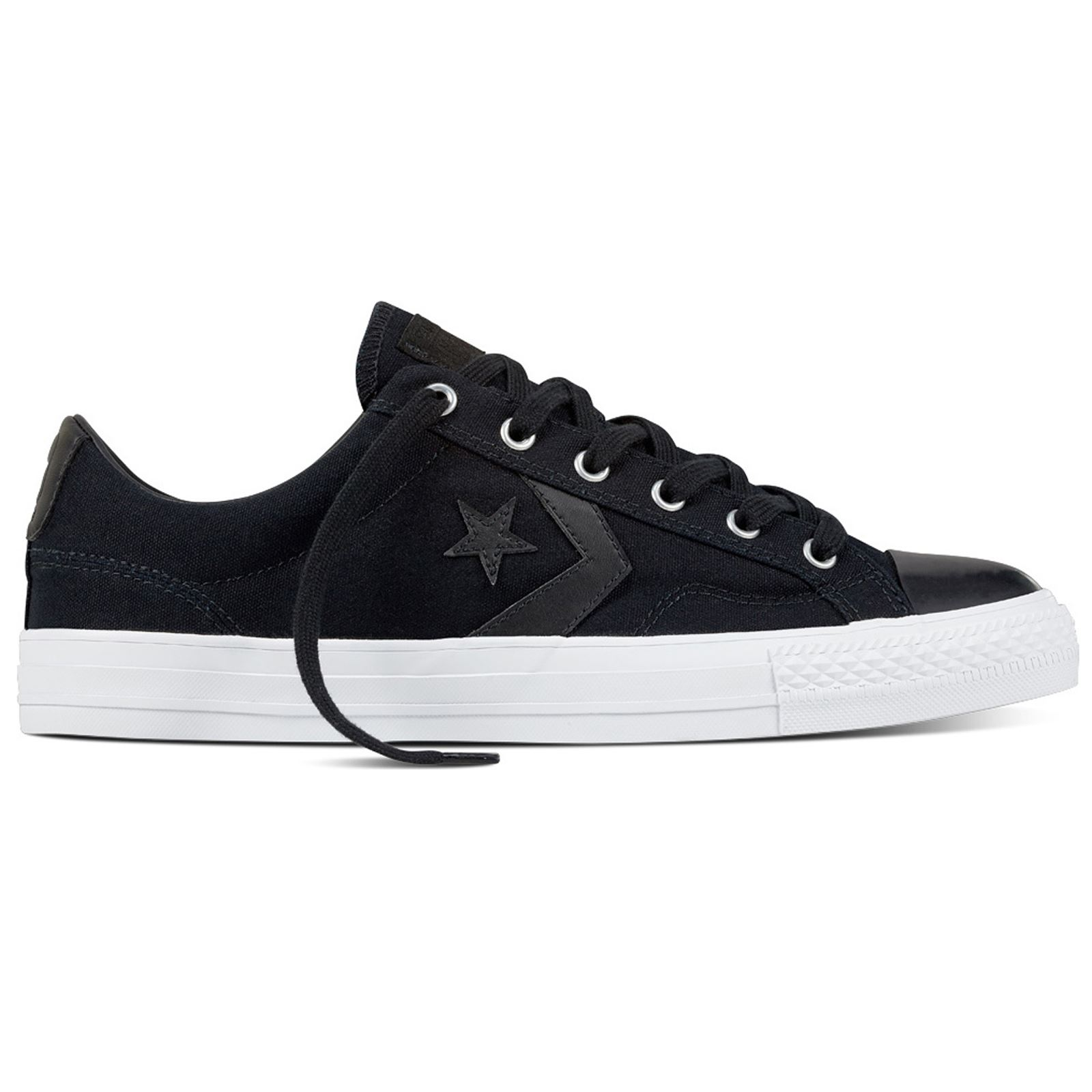 Converse Star Player Ox Black Womens Canvas Low Top Trainers