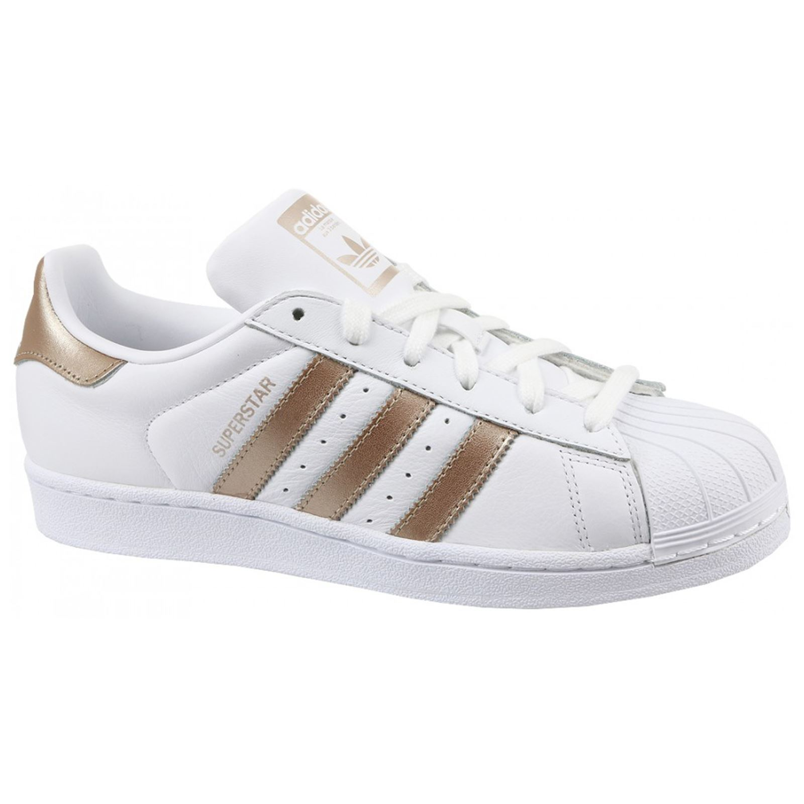Adidas Superstar Footwear White Cyber Metallic Womens Leather Low top Trainers