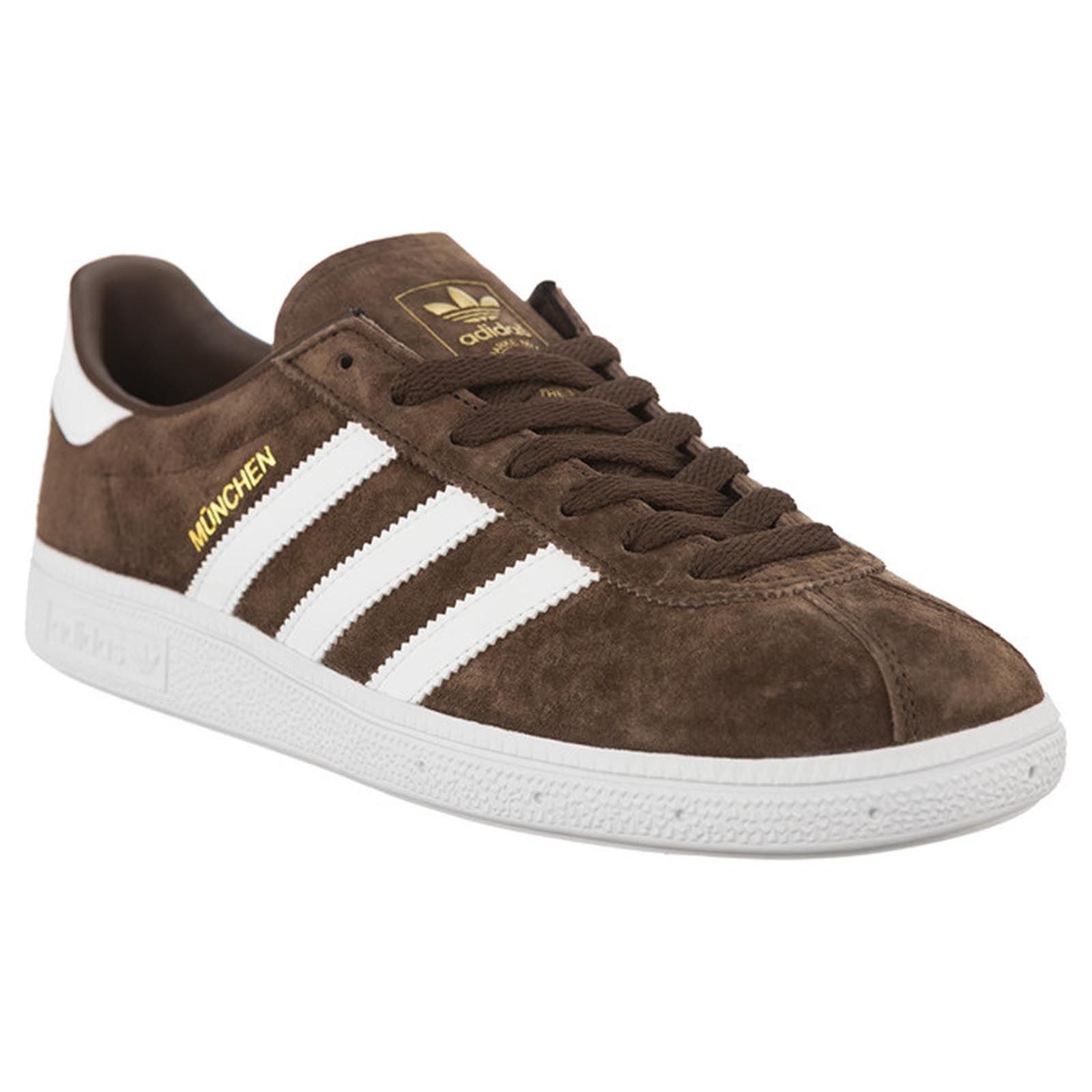 info for 00065 0f46d Adidas Munchen Brown Footwear White Mens Suede Low-top Sneakers Trainers New