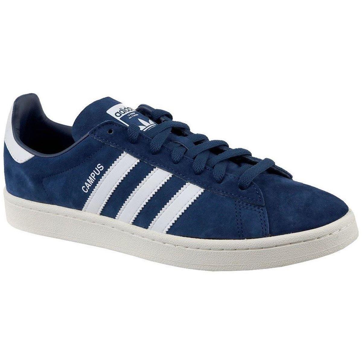 Detalles de Adidas Campus Calzado Azul Oscuro Blanco Para hombre Nubuck Bajo Superior Zapatillas Tenis ver título original