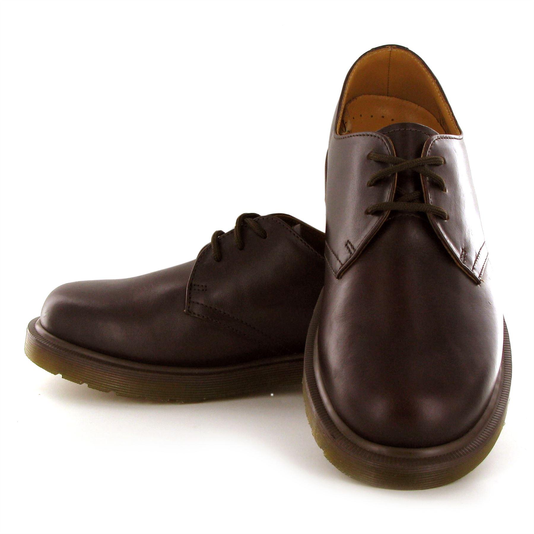 dr martens 1461 pw 3 eyelets mens leather shoes ebay. Black Bedroom Furniture Sets. Home Design Ideas