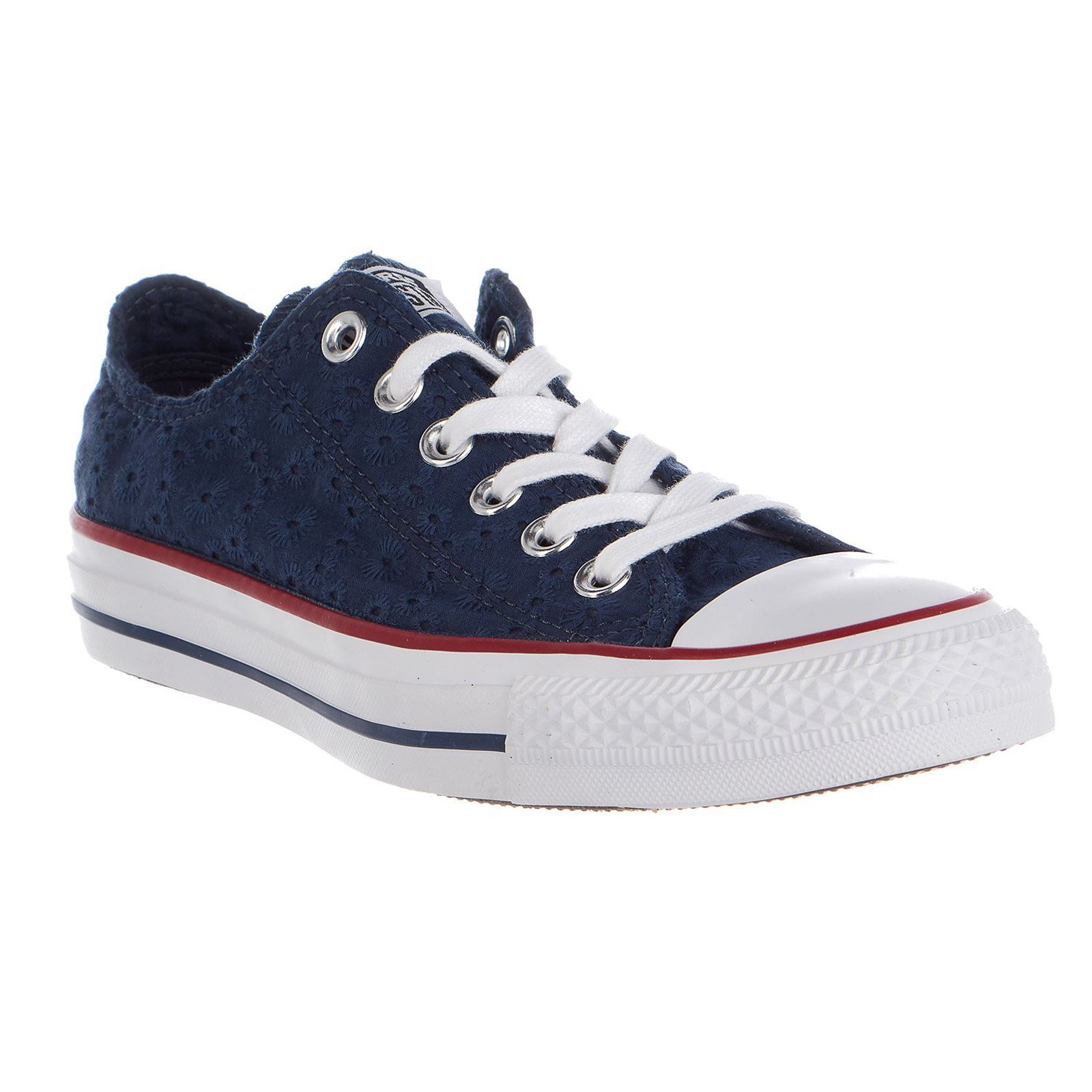 b0fa95c826ac Converse Chuck Taylor All Star Ox Navy Garnet Womens Canvas Trainers  Sneakers