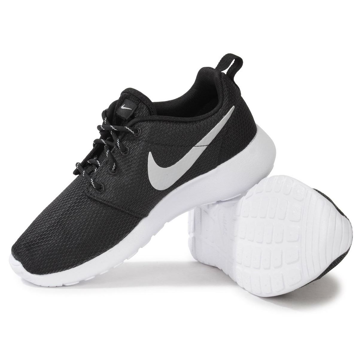 Nike Roshe Run Black White Womens Trainers | eBay