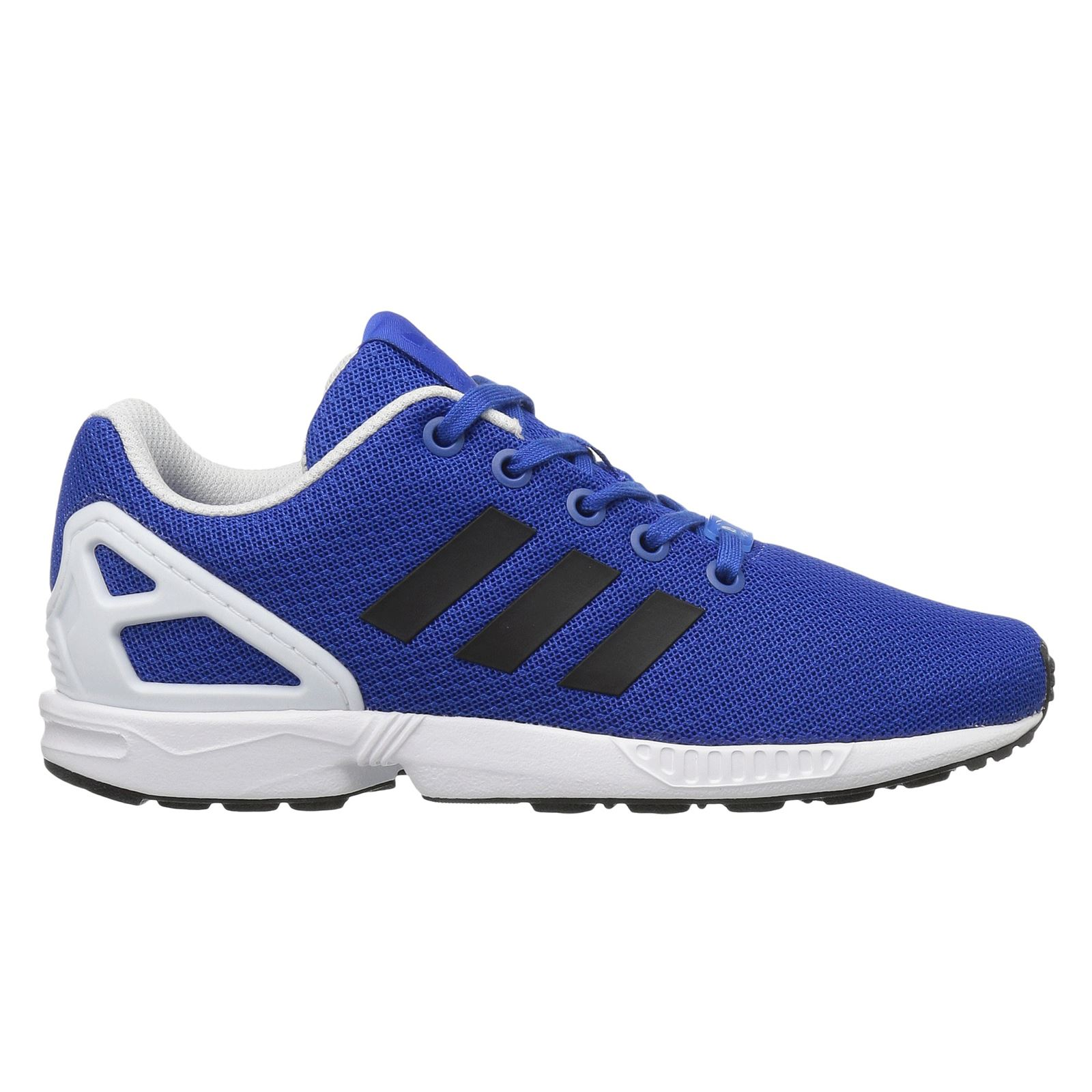 hot sale online 16f89 b7daf Details about Adidas ZX Flux Blue White Kids Low Top Trainers