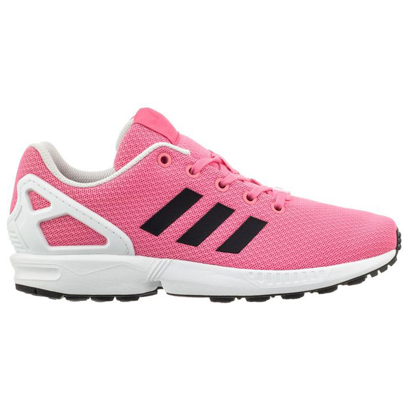 8deb38c51480 Adidas ZX Flux Pink Kids Low Top Trainers