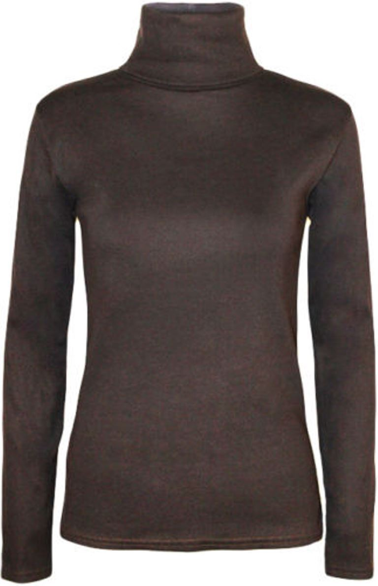 Ladies-Plain-Full-Sleeve-Polo-Roll-Neck-Jumper-Top-Womens-Turtle-Neck-Jumper thumbnail 9