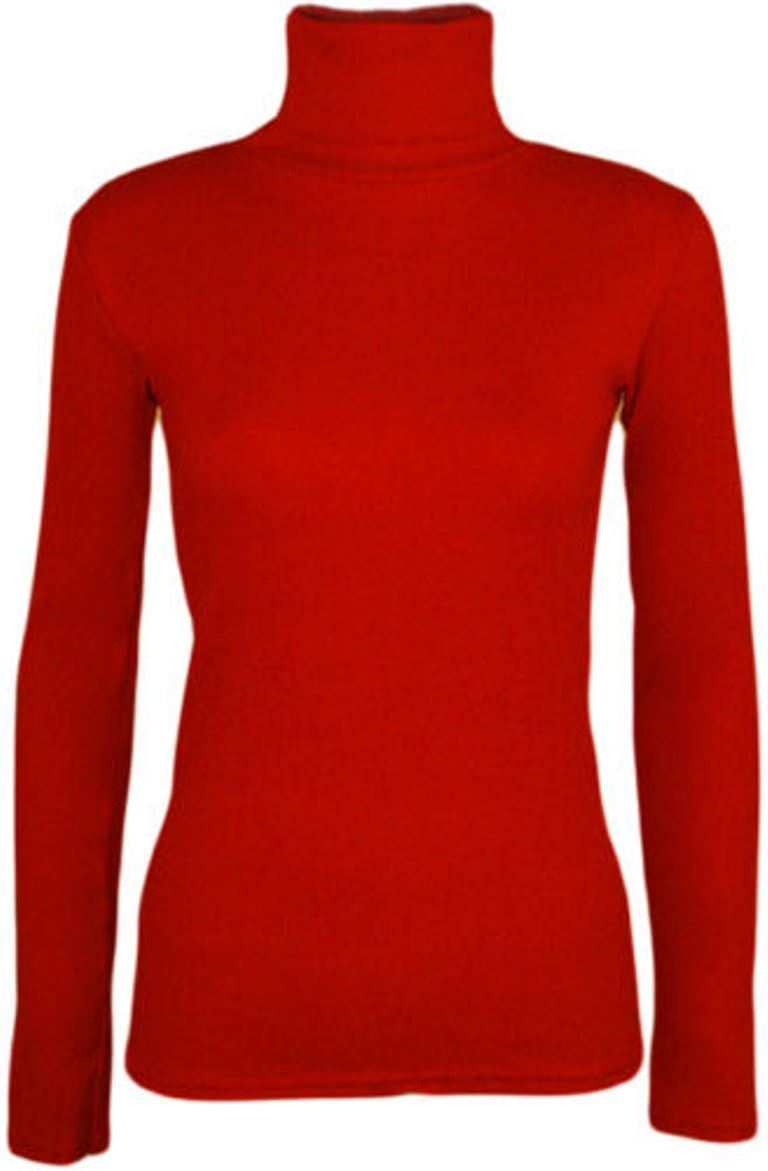 Ladies-Plain-Full-Sleeve-Polo-Roll-Neck-Jumper-Top-Womens-Turtle-Neck-Jumper thumbnail 18