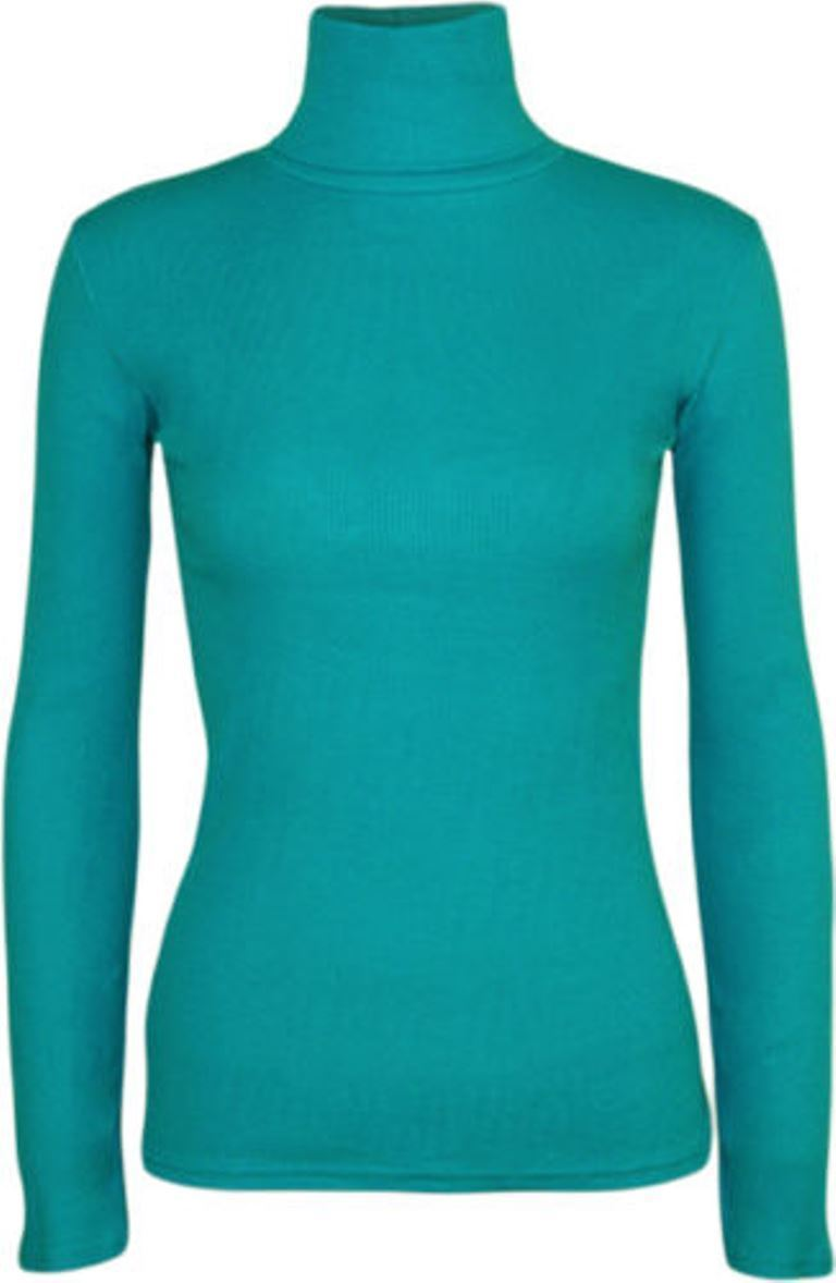 Ladies-Plain-Full-Sleeve-Polo-Roll-Neck-Jumper-Top-Womens-Turtle-Neck-Jumper thumbnail 21